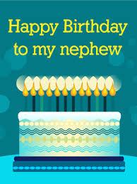 Happy Birthday Cake Card For Nephew Birthday Greeting Cards By Davia