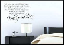 bob quote wall sticker bedroom room decal mural transfer art bob quote wall sticker bedroom room kitchen wall quotes  on stencil wall art quotes with removable wall decals wall quotes the simple stencil browse our