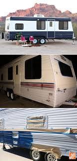 Camper Trailer Kitchen Designs Camper Makeover How To Repaint A Travel Trailer