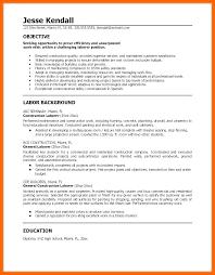 General Laborer Resume Delectable Union Laborer Resume Samples Construction General Worker