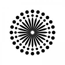 8月花火のシルエット04 無料のaipng白黒シルエットイラスト