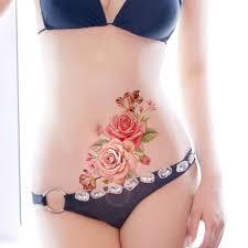 1 шт модные съемные женские 3d наклейки с цветами водонепроницаемые