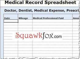 Medical Spreadsheet Templates Magdalene Project Org