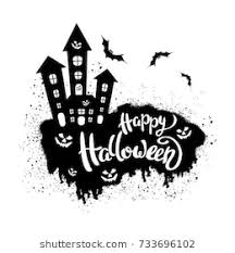 Happy Halloween Template Banner Poster Holiday Stock Vector ...