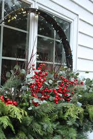 Blumenkasten Weihnachtlich Dekorieren Fenster Ilex Beeren