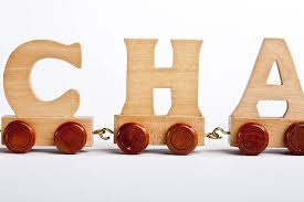extra and replacement name train letters only