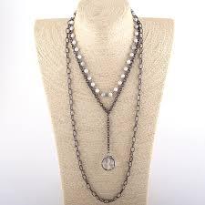<b>Fashion Bohemian Tribal</b> Jewelry 3 Layer Multiple White Stone ...