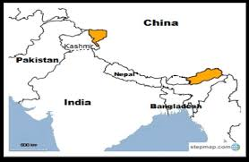 India pakistan border map stock photos india pakistan border map. 1962 India China Border War The Shaded Areas In The Map Mark The Download Scientific Diagram