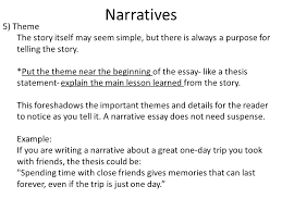 narrative narratives are interesting stories the series of events  5 narratives