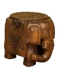 monkey pod elephant stool table waxed flat top