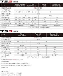 Driver Head Weight Chart Titleist Ts3 Driver 2018 Model Japan Specifications 19sbn