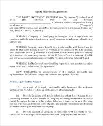 7 Investment Contract Templates Pdf 5981585006 Business