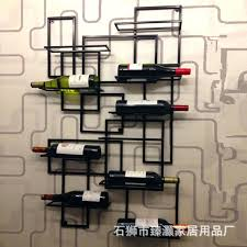 decorative wall wine racks wood rack 4 bottle glasses with decor