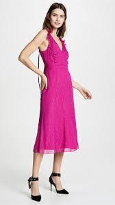 Prabal Gurung Size Chart Deep V Silk Dress With Button Detail