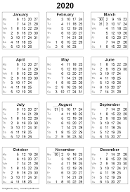 Small Printable 2020 Calendar Free Printable Calendars And Planners 2020 2021 2022
