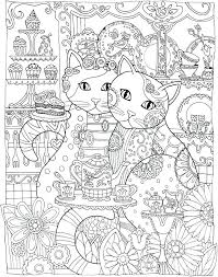 creative haven creative kittens coloring book with creative cats coloring book a sle coloring page 2