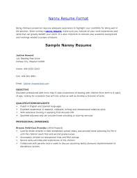 Sample Nanny Resume Wondrous Design Nanny Resume Samples 100 Nanny Cv Example For Nanny 5