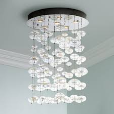 beauty home lighting decor with floating bubble chandelier floating bubble chandelier with white paint crown