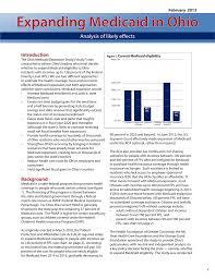 Introduction Ohio Medicaid Expansion Study
