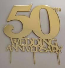 50th Wedding Anniversary Cake Topper Mirror Acrylic Choice Of