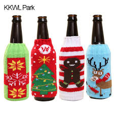 How To Decorate Beer Bottles Christmas beer Set Household Items High Grade Knitted Christmas 52