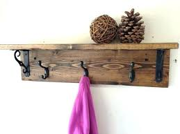 Reclaimed Wood Coat Rack Shelf Enchanting Amazing Wall Coat Rack With Shelf 32 Hanger Furniture Reclaimed Wood