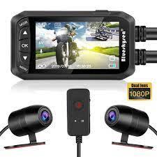 Blueskysea DV128 motosiklet GPS kamera Full HD Dash kamera 1080P çift Moto  DVR 2.7