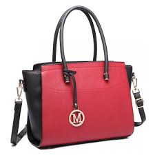 las tote baseball bag black and red