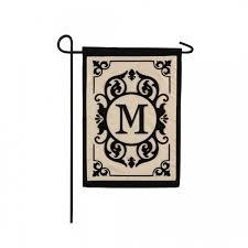 m monogram garden flag personalized