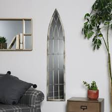 antique white tall slim arched wall