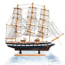cartisfull com ship assembly model wooden sailing boats model wood sailboat for office home decoration