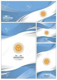Argentina Banner Design Argentina Flag Abstract Colors Background Collection Banner