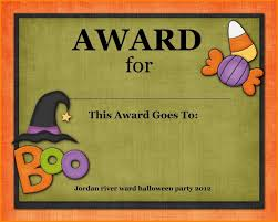 Costume Contest Certificate Template Halloween Award Templates Plasticmouldings Throughout