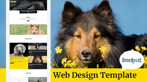 Dog Web Design Breedpost Web Design Template For Dog Breeders And Show Dogs Odie08