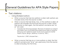 writing an apa style research paper ppt video online general guidelines for apa style papers