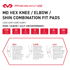 Mcdavid Hexpad Leg Sleeve Size Chart Mcdavid 6440 Hex Padded Knee Shin Elbow Sleeve Amazon In