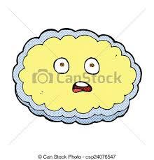 shocked ic cartoon cloud face csp24076547