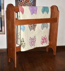 Quilt Stands For Display Adorable HandCrafted Wooden Quilt Stands Custom Quilt Display Racks For