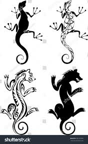 Chimera Salamander Tattoo Stock Vector Royalty Free 290133935