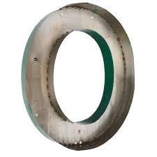 large vintage green metal letter o sign