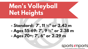 Volleyball Shot Chart Regulation Volleyball Net Heights A Definitive Guide
