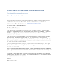 Letter Of Recommendation For A Highschool Student Resume Cover Letter