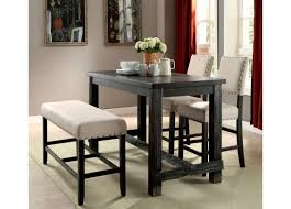 black counter height dining room sets. furniture of america sania ii counter height diningroom set in antique black finish dining room sets e