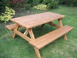 wooden picnic table wooden round picnic table with benches