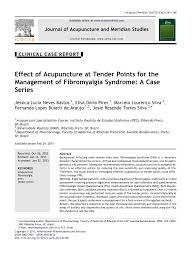 Pdf Effect Of Acupuncture At Tender Points For The