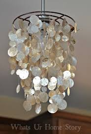 unique lighting fixtures for home. Unique Lighting Ideas. Alluring Capiz Shells Wall Mirror Gold With Light For Your Home Fixtures G