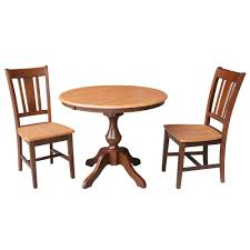 Shop 36 Round Dining Table With 12 Leaf And 2 San Remo Chairs 3