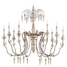 french country lighting. Quorum Lighting La Maison Manchester Grey W/ Rust Accents Chandelier French Country O