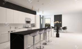Cuisine Moderne Blanche Et Noire Design De Maison Cuisine