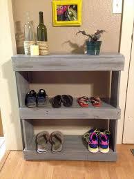 diy pallet shoe rack. Recycled Pallet Shoes Shelf Diy Shoe Rack